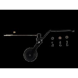 "Tail wheel assembly black aluminum 114""-125"""