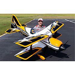Premier Aircraft Mamba 120CC ARF Biplane - Jaune (FPM1600)