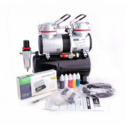 Airbrush Set - Fengda AS-196 compressor, BD-130 airbrush and acc.