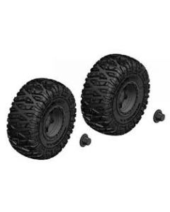 Team Corally - Tire and Rim Set - Truck - Black Rims - 1 Pair
