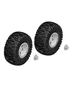 Team Corally - Tire and Rim Set - Truck - Chrome Rims - 1 Pair