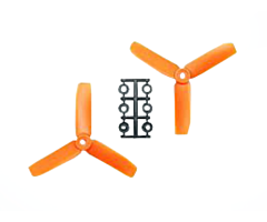 4x4 Bullnose style 3blade orange (2 pair CW/CCW)